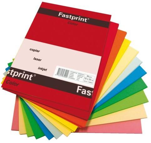 Kopieerpapier Fastprint A4 80gr 10kleuren x25vel 250vel-2
