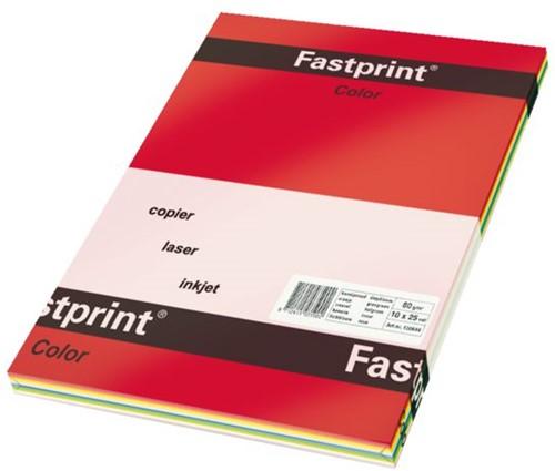 Kopieerpapier Fastprint A4 80gr 5 felle kleuren 250vel