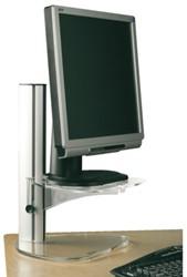 Flatscreenstandaard LCD Opus2 style transparant