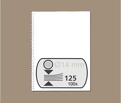 Draadrug GBC 14.3mm US/21rings A4 zilver 100stuks