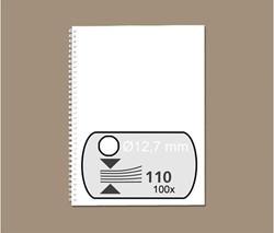 Draadrug GBC 12.7mm 34-rings A4 wit 100stuks