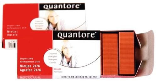 Nieten Quantore 24/6 1000stuks verkoperd