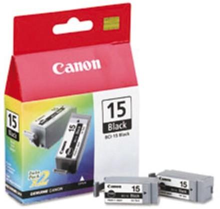 Inkcartridge Canon BCI-15BK zwart 2x