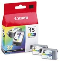 Inkcartridge Canon BCI-15C kleur 2x