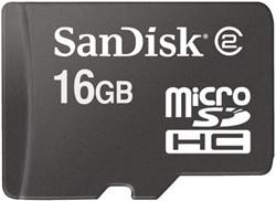 GEHEUGENKAART SANDISK MICRO SDHC 16GB CL4