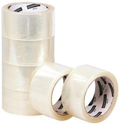 Verpakkingstape Quantore 50mmx60m PP no noise transparant
