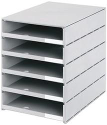 Ladenbox Styroval 5 laden grijs open
