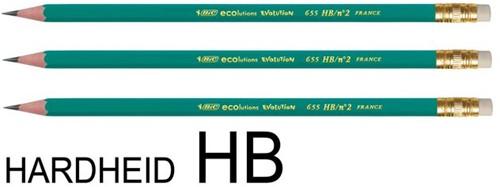 Potlood Bic Conte Ecolution 655 HB met gummitip