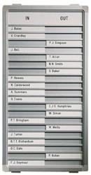 Aan-afwezigheidsbord Legamaster 54x28cm 20 posities