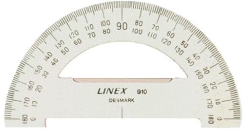 Gradenboog Linex 910 diameter 100mm 180graden transparant