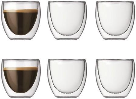 Bodum Pavina Dubbelwandig glas 0,08 L 6 st.