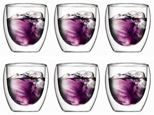 Bodum Pavina Dubbelwandig glas 0,25 L 6 st.